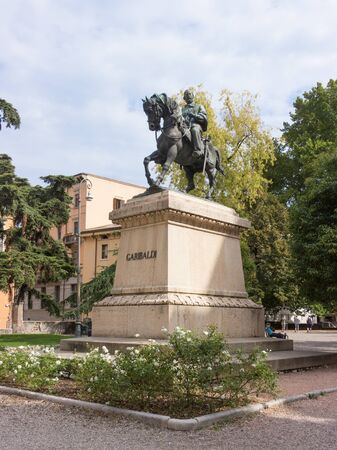 garibaldi: Verona, Italy, September 26, 2015: Monument to Giuseppe Garibaldi in Verona, Italy Editorial