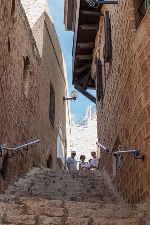yafo: Yafo, Israel, October 15, 2016: Quiet street in old city Yafo, Israel