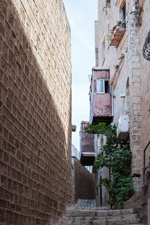 yafo: Quiet street in old city Yafo, Israel