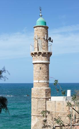 yafo: Al-Bahr Mosque in old city Yafo, Israel