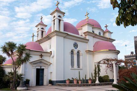 twelve: Greek Orthodox monastery of the twelve apostles in Capernaum (Cafarnaum).