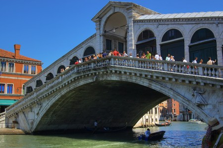 Realto bridge in Venice photo