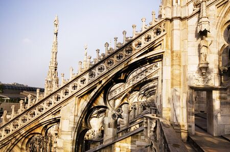 Roof of the main cathedral of Milan