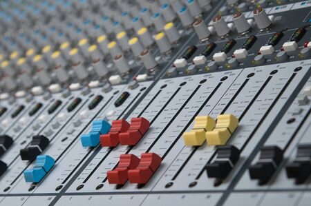 Professional sound mixer photo