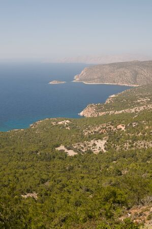 aegean: Rocky Aegean coast line from the top