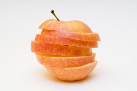sliced apple: Red sliced apple