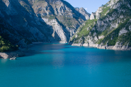 Reservoir in the mountains of Montenegro