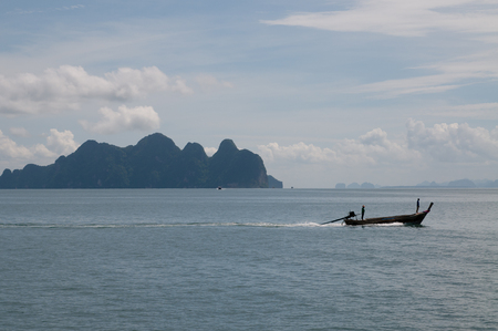 Fishing boat near the islands in Andaman Sea, Thailand