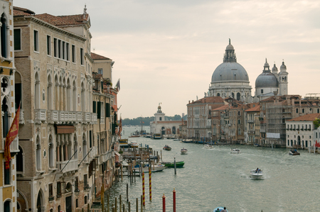 View of Basilica Saint Maria della Salute across the Grand Channel