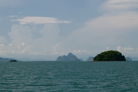 Traveling to some mysterious islands near Phuket, Thailand Stock Photo