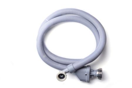 Top view. Drain hose for washing machine