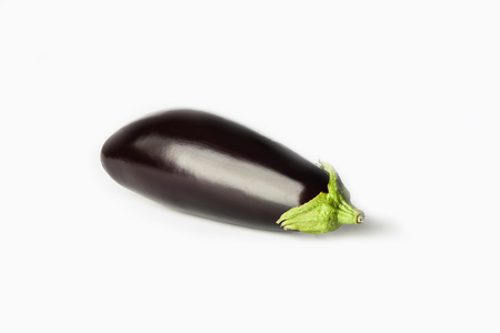 Eggplant or aubergine isolated on white background. Copy space