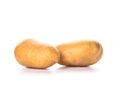 Potato isolated on white background. Copy space. Close up Banco de Imagens