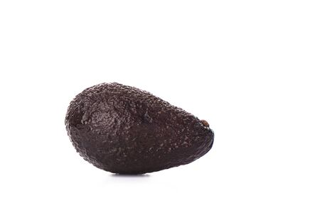 Haas Avocado fruit isolated over the white background. A diet of tropical fruits that contains a large number of trace elements and macrocells. Copy space. Zdjęcie Seryjne
