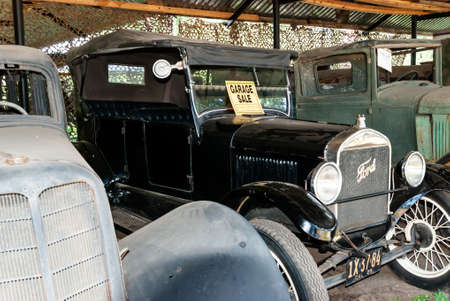 Yaroslavl region, Talitsy village, Russia, July 19, 2015: Pereslavl railway museum. Museum car garage. Car Ford Model T.