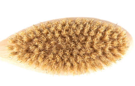 Top view of massage brush with boar bristles.