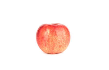 Red ripe apple isolated on white background. Imagens