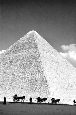 chephren: pyramids in Giza Stock Photo