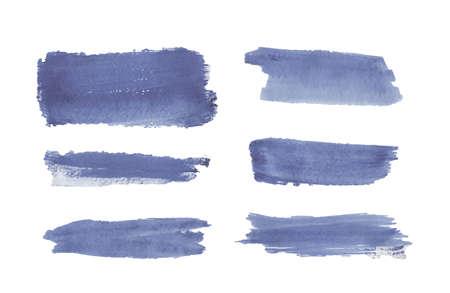 Blue watercolor brush stroke texture. Ilustração Vetorial