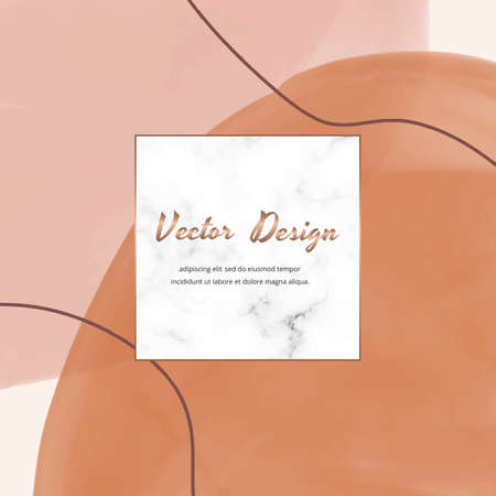 Social media banners with gray, white with gold liquid ink painting and geometric marble frames.