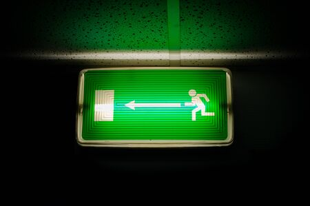 escape sign on black background glowing Stock Photo - 8236231