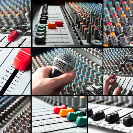 mezclador: Baldosas de mezclador de audio con micr�fono y reguladores