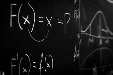 Green chalk board with formula