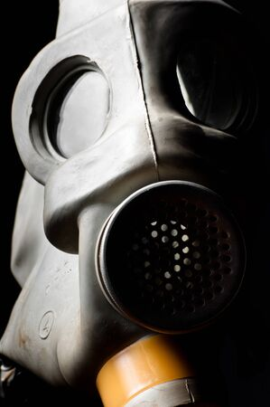 A gasmask with partial light Stock Photo - 9476911