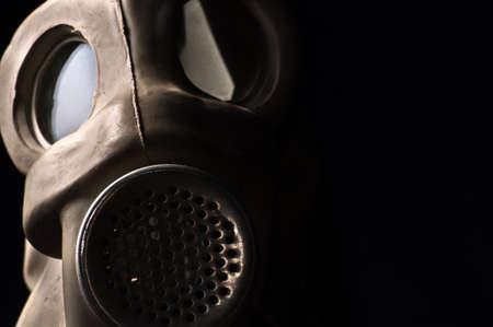 Gasmask closeup with dark background Stock Photo - 9485556
