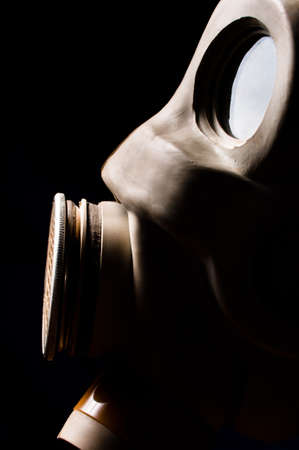 Closeup of a gasmask with copyspace photo