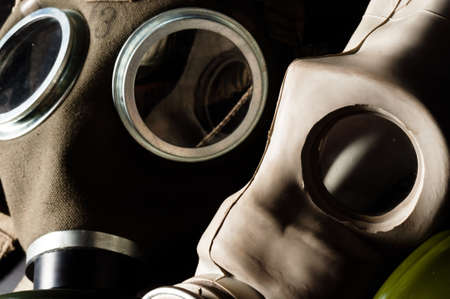Two gasmask with focus on the grey one Stock Photo - 9486296