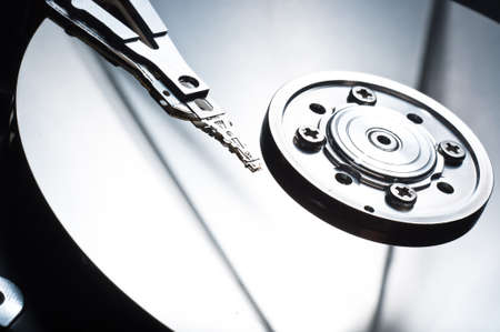 hdd background macro close up Stock Photo - 9485559