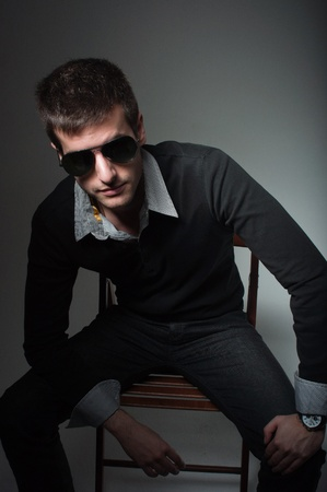 Portrait of a young man wearing sunglasses Stock Photo - 9510698