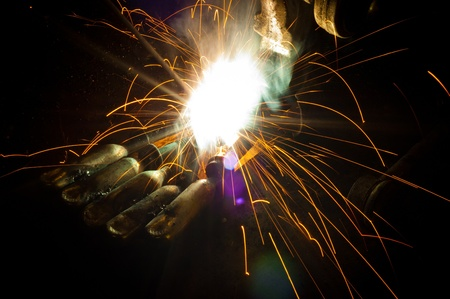 Gas cutting of the metal Stock Photo - 9510677