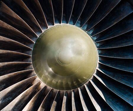 Closeup of a jet turbine engine Stock Photo - 9510733