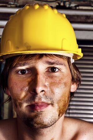 Worker in yellow helmet Stock Photo - 10193604