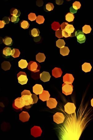 Abstract background of out of focus lights photo