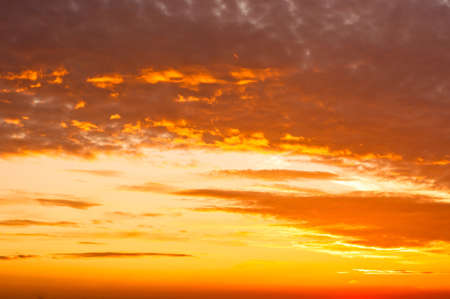 Orange sunset with clouds Stock Photo - 10880137