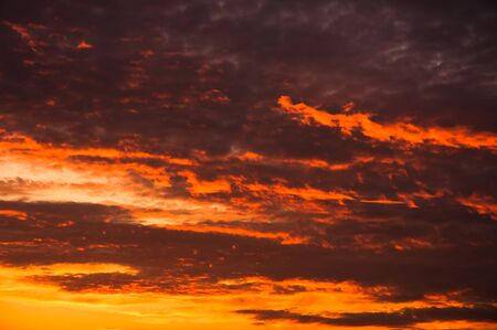 Red sky with several storm clouds Stock Photo - 10880141