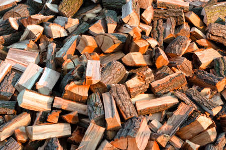 Texture of piled up firewood for the winter Stock Photo - 10880256
