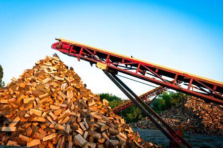 woodpile: Firewood piled up