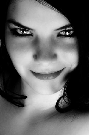 Seductive look of a beautiful woman photo