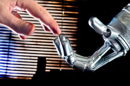 Contact between human and robot Stock Photo - 11508154