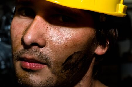 Tired industrial worker Stock Photo - 11508283