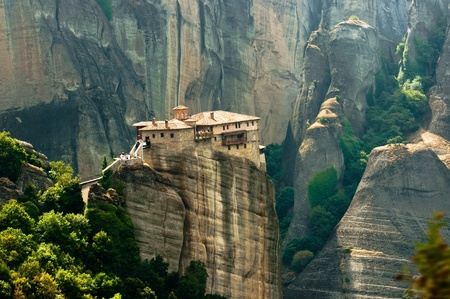 meteora: Stone building built on a mountain