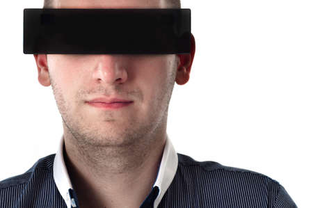 Handsome young man with black glasses Stock Photo - 12723267