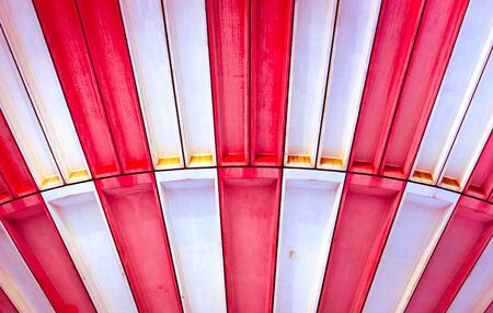 Industrial background with red and white pattern Stock Photo - 12746201