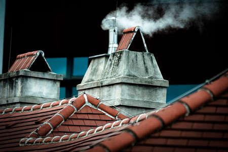 Small Chimney with smoke photo