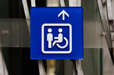 Handicap sign in blue closeup Stock Photo - 13610234