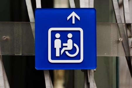 handicap sign: Handicap sign in blue closeup